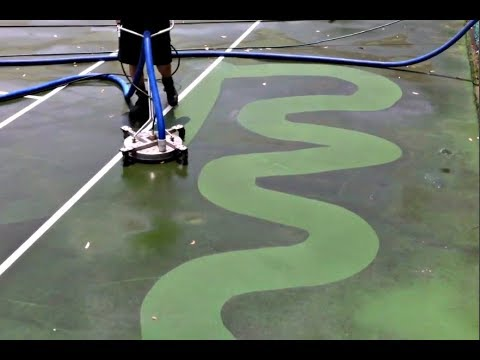 amazing tennis courts pressure c - Amazing Tennis Courts Pressure Cleaning Compilation