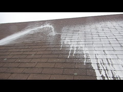 cleaning a roof with oxygen blea - Cleaning a Roof with Oxygen Bleach
