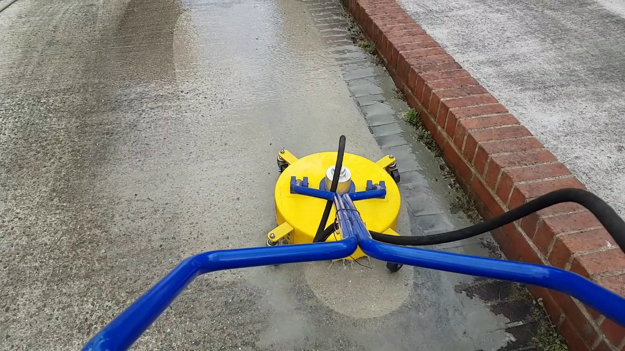 """concrete cleaning with the 18 wh - Concrete Cleaning with the 18"""" Whirlaway"""