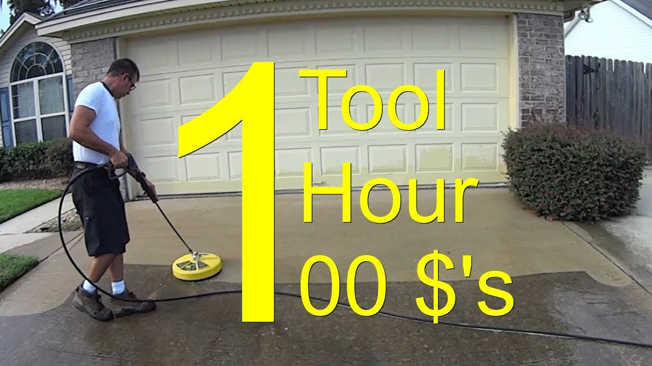 pressure wash a driveway chemica - Pressure Wash a Driveway - CHEMICAL FREE - $100 an Hour