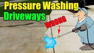 pressure washing concrete drivew 300x169 - Pressure Washing Concrete Driveway
