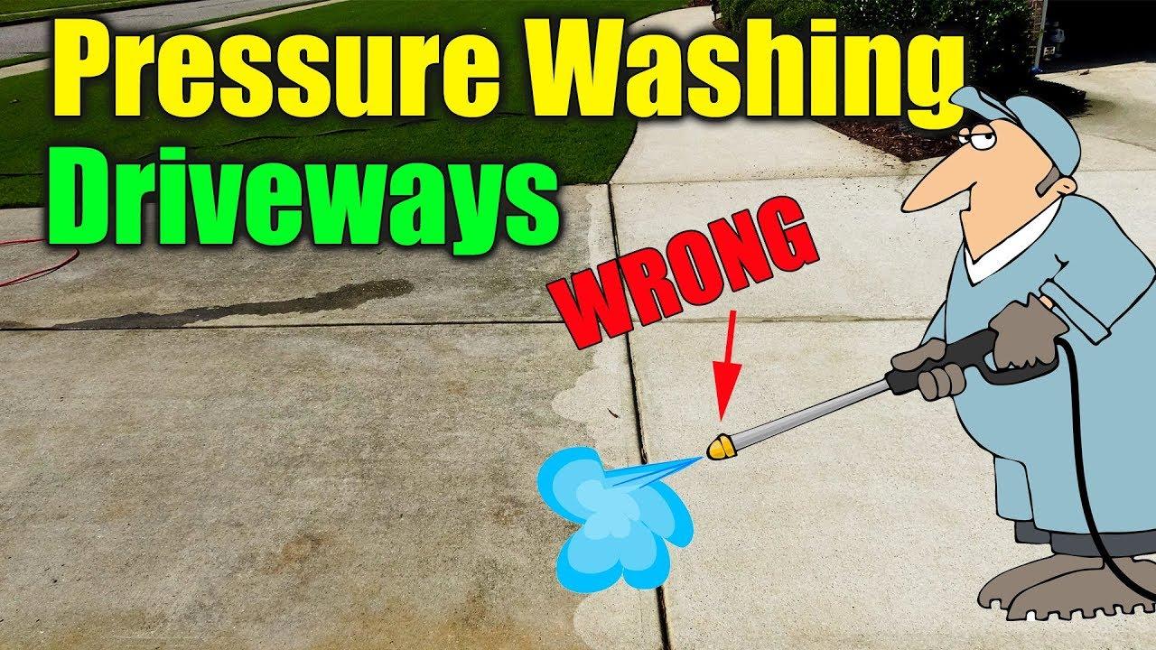 pressure washing concrete drivew - Pressure Washing Concrete Driveway
