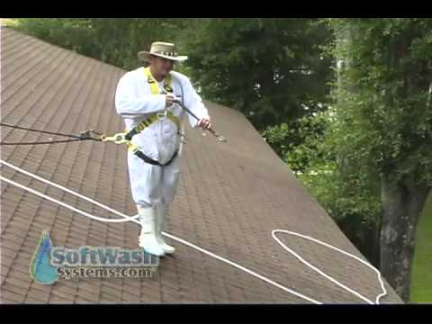proper roof cleaning spraying te - Proper Roof Cleaning / Spraying Techniques.