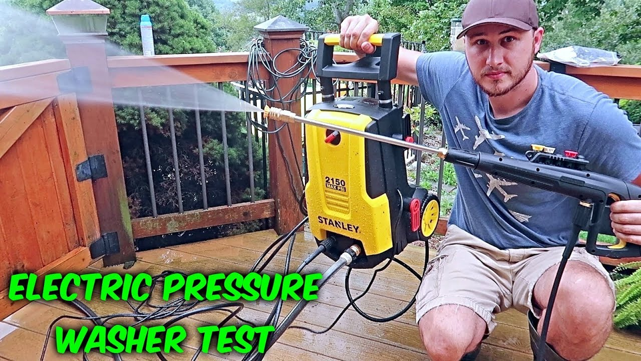 trying electric pressure washer - Trying Electric Pressure Washer for the First Time!