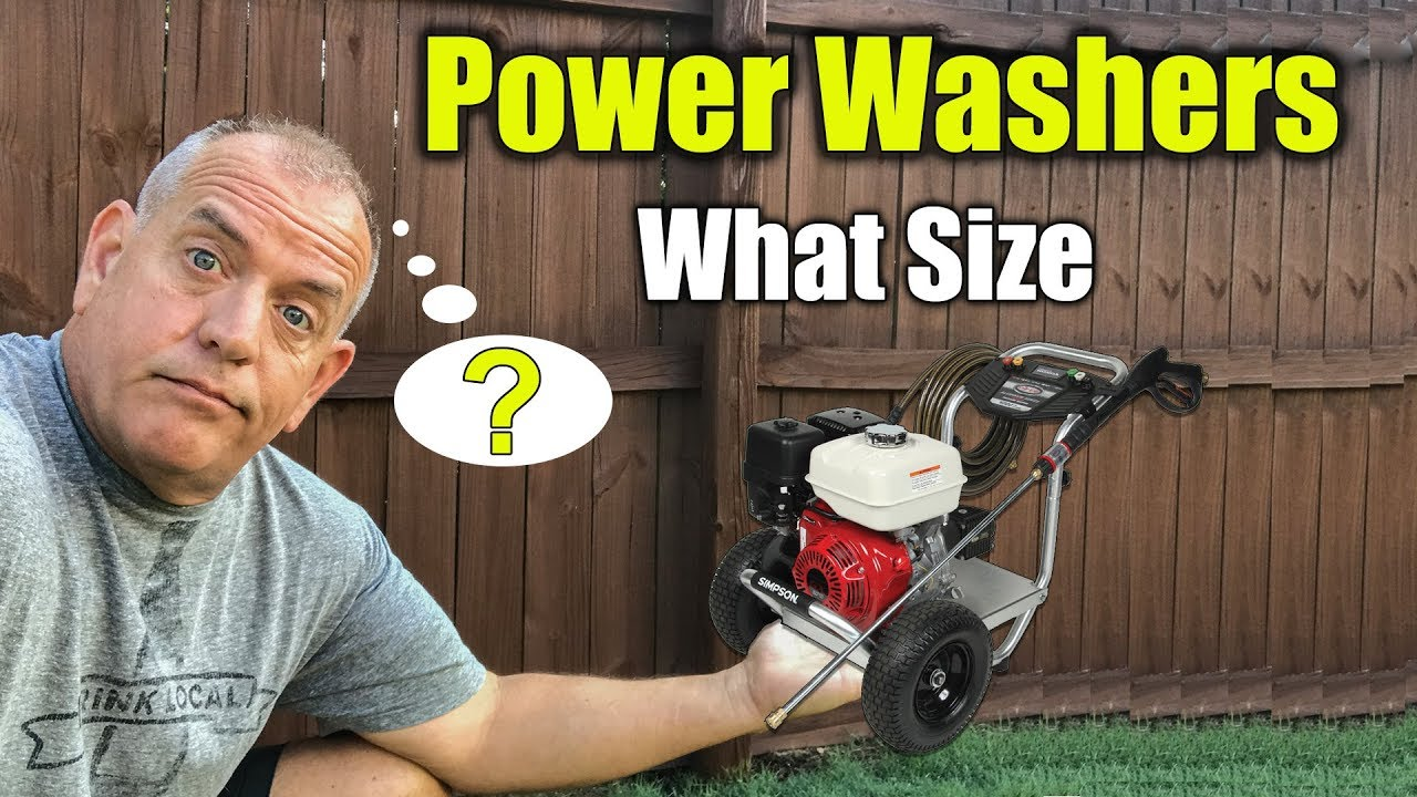 what size pressure washer for ho - What Size Pressure Washer for Home